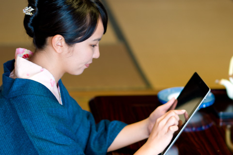 旅館でiPad-wifi