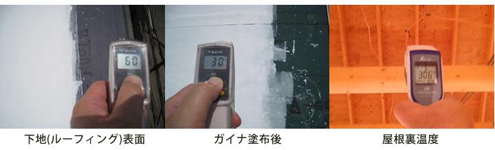 屋根表面・ガイナ塗布後・屋根裏温度01